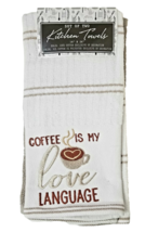 Love Language Set of 2 Kitchen Towels - Coffee is My Love Language image 1