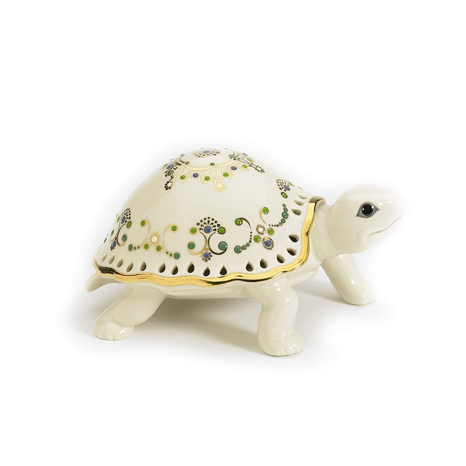 Primary image for Lenox Jewels of Light Turtle Sculpture with COA
