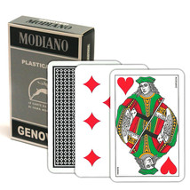 GENOVESI 100% PLASTIC Deck of Genovesi Italian Regional Playing Cards NEW - $12.99