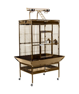 Large Select Wrought Iron Play Top Bird Cage - Coco Brown 961-PP-3153COCO - $466.78