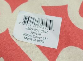 Split P Amelia 2505054CVR Red White Zippered  Cover 18 Inch Polyester Pillow image 7