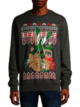 Holiday Time Men's 3XL Gray Ugly Sloth Pullover Graphic Long Sleeve Swea... - $14.48