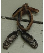 Nice Vintage Pewter Slipper Charms, GOOD CONDITION, LOOK OLDER - $9.89
