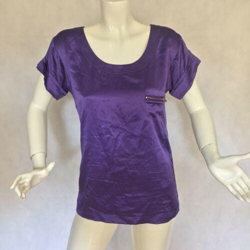 DVF Diane Von Furstenberg Purple top blouse 100% silk size 0 Career work