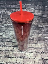 Starbucks 24 oz Holiday Limited Edition Red Cascading Glitter Tumbler - $39.80
