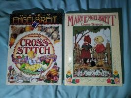 2 MARY ENGELBREIT Cross Stitch Hardback Books For All Seasons Make a Wish - $14.50