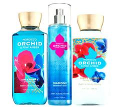 Bath & Body Works Marocco Orchidea & Rosa Ambra Trio Deluxe Set Regalo - $40.13