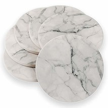 Absorbent Ceramic Coasters Faux Marble - Set of 6, Cork Backing (Marble) - $18.79