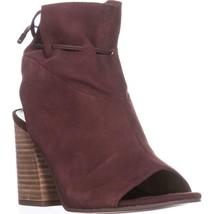 Franco Sarto Fenwick Peep-Toe Ankle Boots, Mahagony Suede, 7 US / 37 EU - $44.15