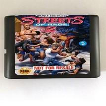 Streets Of Rage 2 MD Console Game Cartridge Card 16bit Sega Mega Drive G... - $12.99