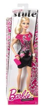 Fashionista Barbie Doll, Black and Pink Floral Dress - $9.99