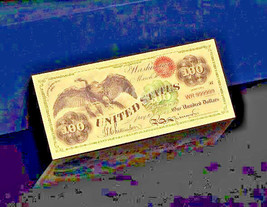 """2X MINT GEM CONDITION/>1899/""""GOLD/""""BISON Banknote W// COA~ U.S SELLER~FAST SHIPPING!"""