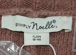 Simply Noelle Brand JCKT222SM Knitted Mauve Women's Zipper Jacket Size Small image 7