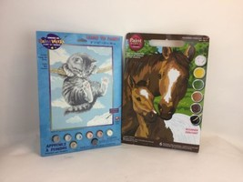 "Paint Works Paint By Number Kit 9""X12""-Hang On Kitty Pony Mother dimensions - $18.69"