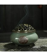 Oriental Porcelain Censer Ceramic Insect Repellent Ethnic Indian Rite In... - $23.94