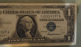 1957 $1 One Dollar Silver Certificate Blue Seal Note Circulated G22222197A - $4.75