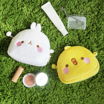 Molang Face Mini Pouch Keyring for Card USB Earphone Accessories Coin Ma... - $17.99