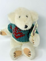 "Ganz Frosty Jointed White Bear Plush Stuffed Animal Vintage 1993 12"" Tall - $17.50"