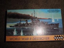 World War Ii Destroyer (Vintage Hawk #10) Model Kit c.1967 - $16.83