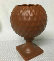 Vintage Inarco Pottery Planter Brown Pedestal Planter - $9.89
