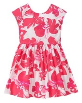 Gymboree Dress 10 Pretty Poppy Pink Coral Watercolor Floral Flower NWT - $12.19