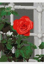 pepita Open Rose by The Window Needlepoint Kit - $78.00