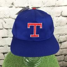 Texas Rangers Baseball Cap Vintage Blue Red NOS NWT RARE HTF - $49.49