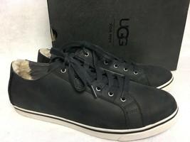 UGG Australia Mens VANOWEN Black Shoe Sneaker Lace Up Nubuck Leather 100... - $79.99