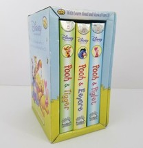 3 Disney Puffy Books Winnie the Pooh Learn Aloud Musical Reading CD Friendship - $23.77