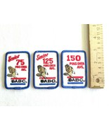 Lot 3 Vintage Eagle Bowling Patches ABC Senior 75 125 150 Pins Over Average - $7.99