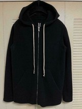 Rick Owens Authentic 2018FW Knit FELTED YAK Hoodie Black Size S Used fro... - $1,059.96