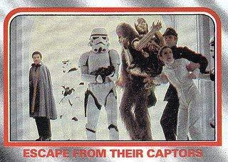 1980 Topps Star Wars Empire Strikes Back Red Cards ESCAPE FROM THEIR CAPTORS #10