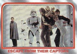 1980 Topps Star Wars Empire Strikes Back Red Cards ESCAPE FROM THEIR CAP... - $3.91