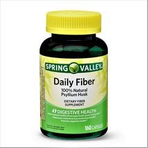 Spring Valley Daily Fiber 100% Natural Psyllium Husk 160 Capsules - $15.80