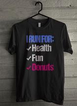 I Run For Health Fun Donuts Men's T-Shirt - Custom (453) - $19.12+