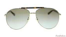Gucci Men's Sunglasses GG0014S 002 Havana Gold/Brown Lens Aviator Authen... - $202.73