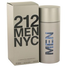 212 by Carolina Herrera 3.3 oz/3.4 oz/100 ml EDT Cologne for Men New In ... - $62.92