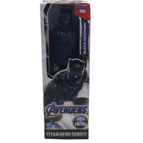 Primary image for BLACK PANTHER Marvel Avengers Titan Hero Series 12 Inch Hasbro Action Figure New