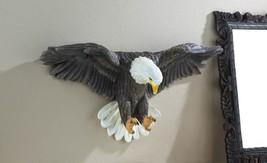 Beautifully Detailed Soaring Bald Eagle Wall Decor - $60.09