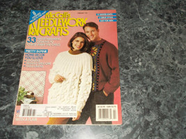 Mccall's Needlework & Crafts Magazine February 1991 Caplet Cardigan - $2.99