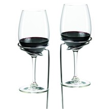 metal wine rack, Chrome storage decorative display glass wine rack metal... - $20.29