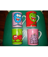 4 HERSHEY JOLLY RANCHER CANDY COFFEE MUGS CUPS CUTE CHARACTER LOGO NEW U... - $23.95