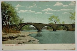 Old Undivided Back Postcard Used 1912 Leeds Bridge Leeds, New York - $11.71