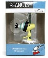 Hallmark Peanuts Woodstock Holding Ski Blade  Edition Christmas Ornament - $14.99