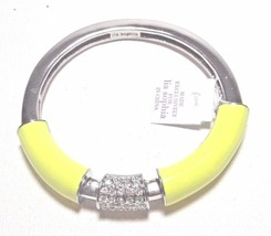 NWT $98 Lia Sophia STRETCH BRACELET YELLOW Citron Technicolor Crystal Ba... - $19.79