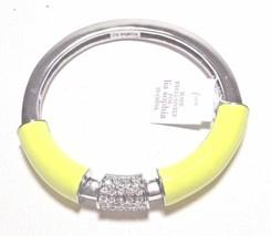 NWT $98 Lia Sophia STRETCH BRACELET YELLOW Citron Technicolor Crystal Ba... - $268,56 MXN