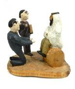 Signed Vintage Art Wood Hand Carved Political Nixon Kissinger Mid East V... - $318.78
