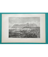 RUSSIA View of Tobolsk - 1884 Antique Print Xylograph - $19.80