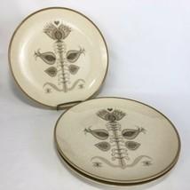 1960s Franciscan Spice Pattern Dinner Plates Set of 3 USA Brown Cream VTG MCM - $29.65