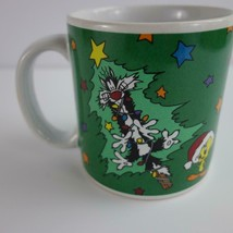 Vintage 1994 Looney Tunes Sylvester and Tweety Christmas Holiday Coffee Cup Mug - $18.37